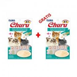 Churu Chicken with Crab – kremowy przysmak dla kota, kurczak i kraby