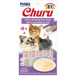 Churu Chicken with Shrimp – kremowy przysmak dla kota, kurczak i krewetki