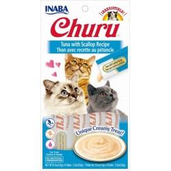 Churu Tuna with Scallop – kremowy przysmak dla kota, tuńczyk i  przegrzebki