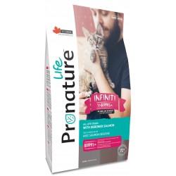 Pronature Life Cat Infinity dla kotów i kociąt 2,27kg. Wysokomięsna karma z kurczakiem i łososiem, 72% białka zwierzęcego