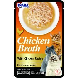 Inaba CHICKEN BROTH Rosół z mięsem dla kota  50 gr