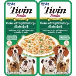 Inaba TWIN PACK DOG - DWUPAK saszetek dla psa kurczak warzywa 2x40 gr