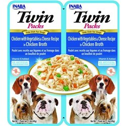 Inaba TWIN PACK DOG - DWUPAK saszetek dla psa kurczak warzywa ser  2x40 gr