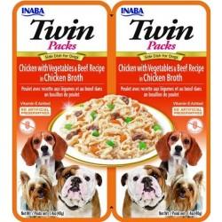 Inaba TWIN PACK DOG - DWUPAK saszetek dla psa kurczak  wołowina warzywa 2x40 gr