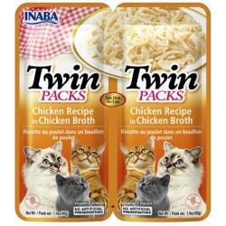 Inaba TWIN PACK CAT - DWUPAK saszetek dla kota kurczak   2 x 40 gr
