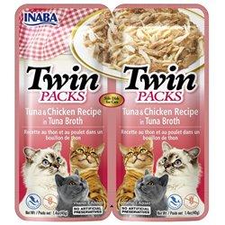 Inaba TWIN PACK CAT - DWUPAK saszetek dla kota kurczak tuńczyk 2 x 40 gr