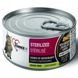 1st Choice Cat Sterilized  Kurczak i Sardynki 85g